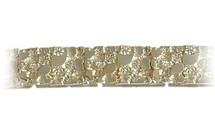 Men's Thick Nugget Style 10 Karat Gold Bracelet