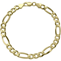 Ladies 3mm wide 10 karat Gold Figaro Bracelet