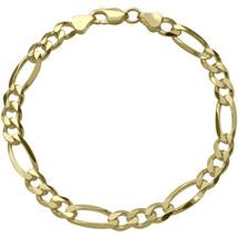Ladies 4mm wide 10 karat Gold Figaro Bracelet