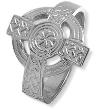 Large Sterling Silver Celtic Cross Ring