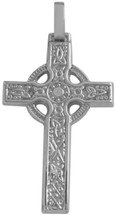 10 Karat White Gold Detailed Celtic Cross