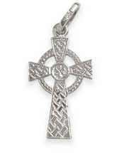 Sterling Silver Religious Celtic Cross (24mm x 14mm)