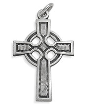 Sterling Silver Religious Celtic Cross (31mm x 20mm)