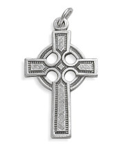 Sterling Silver Religious Celtic Cross (26mm x 16mm)
