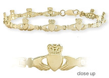 Yellow Gold Claddagh Bracelet