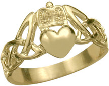 10 Karat Yellow Gold Claddagh Knot Ring