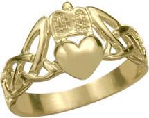 10 Karat Yellow Gold Claddagh Knot Ring