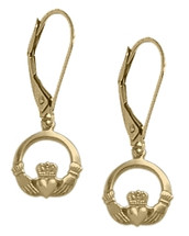10 Yellow Gold Celtic Leverback Earrings