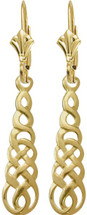 Celtic 10 Karat Yellow Gold Earrings