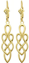 10 Karat Yellow Gold Celtic Style Earrings