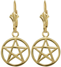 10 Karat Yellow Gold Celtic Star Earrings