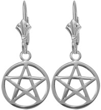 10 Karat White Gold Star Earrings