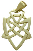 10 Karat Yellow Gold Celtic Knot Fancy Pendant