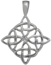 Genuine Traditional Sterling Silver Celtic Knot Pendant with chain