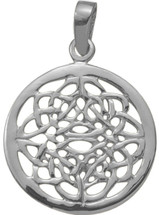 Celtic Genuine Sterling Silver Knot Pendant with chain