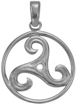 Genuine Sterling Silver Celtic Triskele Pendant with chain