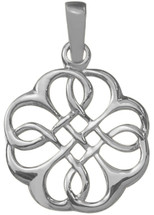Genuine Celtic Sterling Silver Knot Pendant with chain