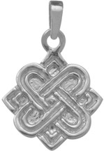 Genuine Sterling Silver Four Point Celtic Knot Pendant with chain
