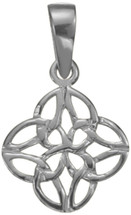Celtic Knot Genuine Sterling Silver Pendant with chain