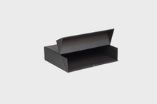 "[BMSB] MUSIC SHELF BOXES, IN BLACK -- 3.5"" x 11.5"" x 15"""