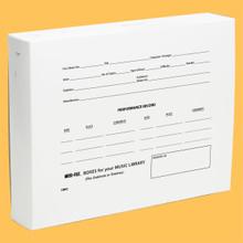 "[CM02] CHORAL OCTAVO MUSI-FILE BOXES -- 8.5"" X 11"" x 2"" DEEP"