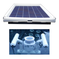 Savior Solar Powered Floating Pool Skimmer/Cleaner (120 W)