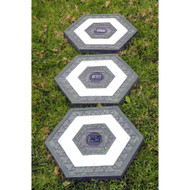 Homebrite Set of 3 Solar Power Hexagon Garden Green Stepping Stones