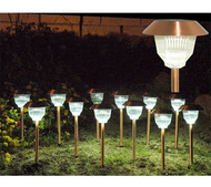 Homebrite Solar Power Rockwell Path Lights (Set of 12)