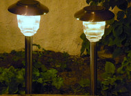 Homebrite Solar Power Olympus Path Lights - Stainless Finish (Set of 8)