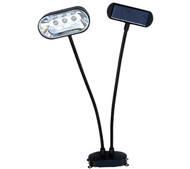 Homebrite Set of 2 Solar Dual Head Lite-Anywhere Spot Light