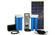 Aqua Sun Villager S3-4 - Solar Powered Stationary Water Purification System