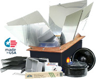 Kit includes solar oven and accessory kit