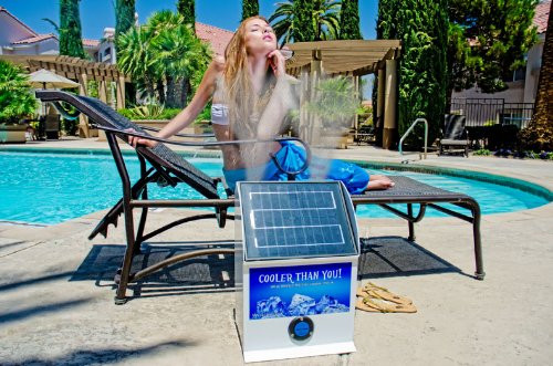Portable Water Misting Systems : Portable solar powered misting system capsells
