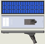 Capsells 4000 Lumen Solar Street Light