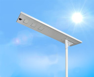 12,000 Lumen Solar Street Light / Parking Lot Light – 100 Watt LED