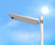 1800 Lumen Solar Street Light / Parking Lot Light – 15 Watt LED