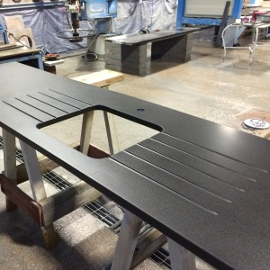 Slate and stone kitchen worktops