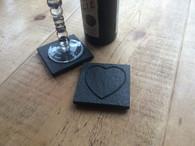 Engraved Heart Coaster