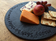 Round Personalised Cheese Board