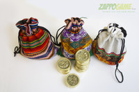 Colorful Sapo-Token bags  are handmade by local artisans in Lima, Peru.