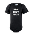 Han Shot First Cute Soft Cotton Short Sleeve Infant Bodysuit