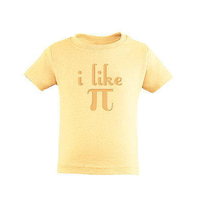 "Toddler Tee Shirt ""I Like Pi"" π Funny Nerdy Geek Humor 3.14 Pi Day"
