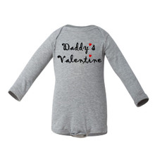 """Super Cute """"Daddy's Valentine"""" Valentine's Day Adorable Baby Long Sleeve Bodysuit"""