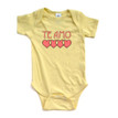 "Te Amo (Spanish for ""I Love You"") Cute Valentine's Day Short Sleeve Baby Bodysuit"
