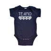 "Te Amo (Spanish for ""I Love You"") Valentine's Day Short Sleeve Baby Bodysuit"