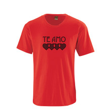 """Te Amo (Spanish for """"I Love You"""") Valentine's Day Adult Cotton T-Shirt"""