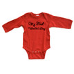 "Adorable ""My First Valentine's Day"" Valentine's Day Baby Long Sleeve Bodysuit"