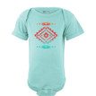 Baby Bodysuit With Cute Aztec Southwest Native American Print