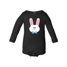 Apericots Cute Baby Boy Easter Bunny Spring Long Sleeve Soft Cotton Fun Bodysuit
