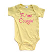 """Baby Girl """"Future Cowgirl"""" Country Western Infant Creeper"""